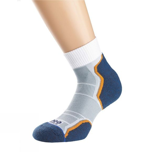 1000 Mile Breeze Anklet Sock Navy/Grey