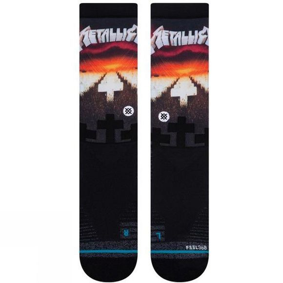 Stance Master of Puppets Crew BLK