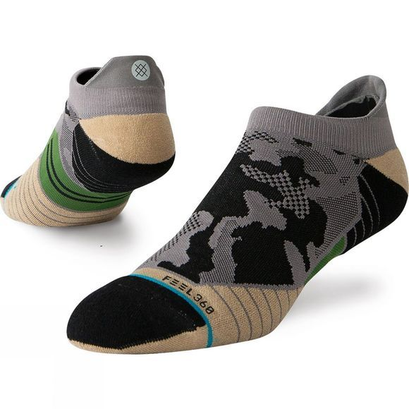 Stance Mens Smoke Camo Run Tab Grey