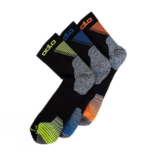 Odlo Ceramicool Quarter Sock 3 Pack  Multi