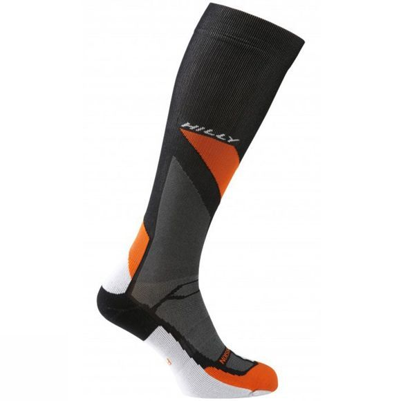 Hilly Marathon Fresh Compression Sock Black/Orange/Grey