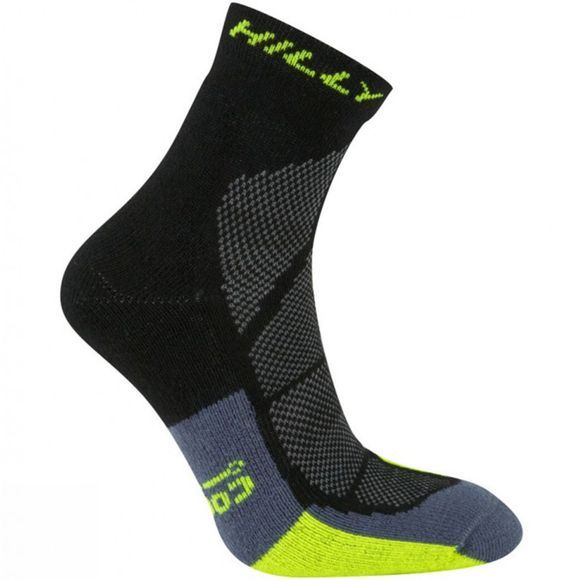 Hilly Cushion Anklet Socks Blk/FYellow/Granite