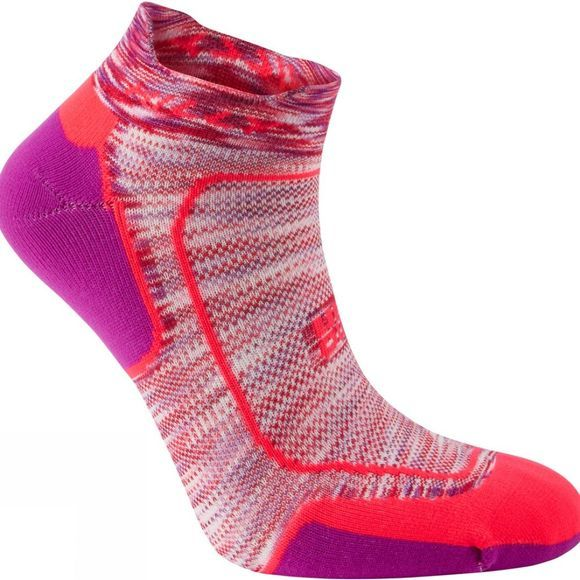 Hilly Lite Cushion Socklet Hot Coral/Grapejuice