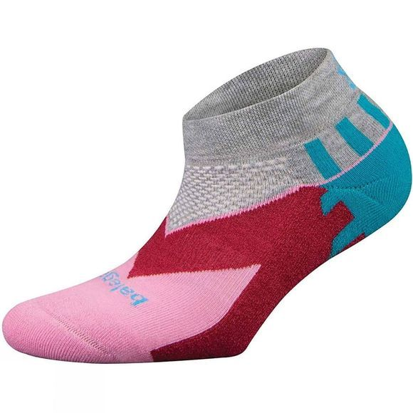 Balega Womens Enduro V-Tech Low Cut Running Socks Pink/White