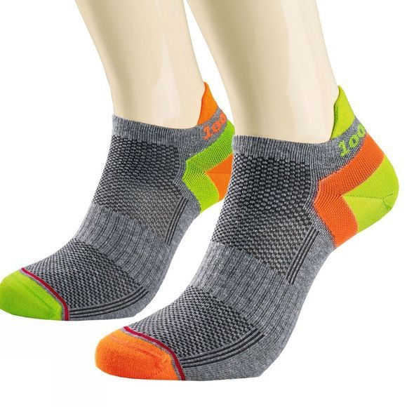 1000 Mile Womens Trainer Liner Special Edition Sock Grey/Yellow/Lime