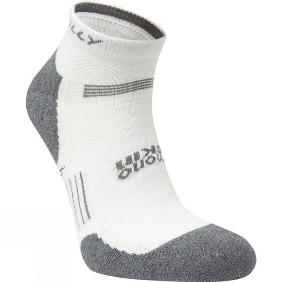 Hilly Mens Supreme Quarter Socks White/Grey Marl
