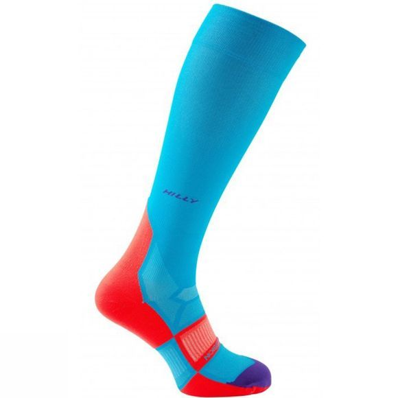 Hilly Women's Pulse Compression Socks Teal/Fpink/Purple