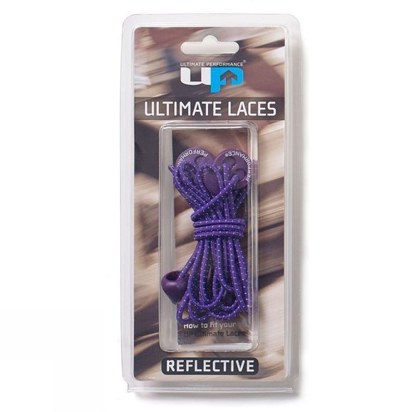 Ultimate Performance  Reflective Elastic Laces Purple
