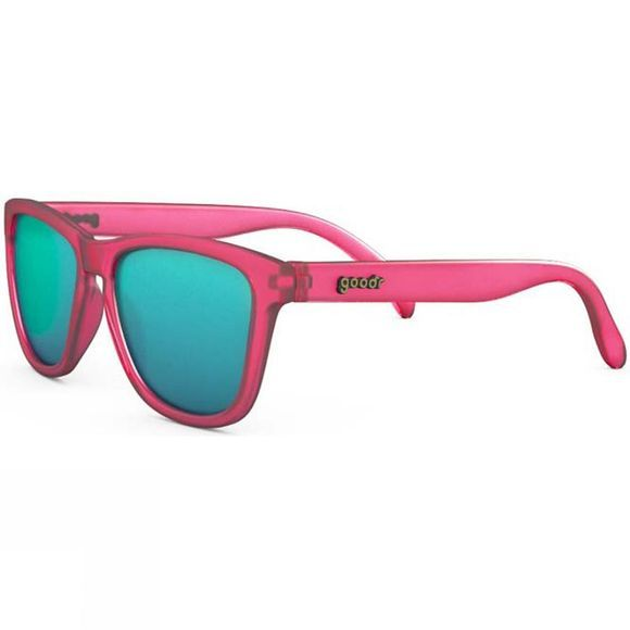 Goodr The Originals Sunglasses Pink with Blue Lens
