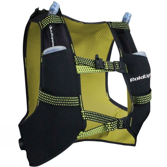 Raidlight Gilet Responsiv 3L + 2 Soft Flasks 350ml Black / Yellow