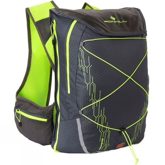 Ronhill Commuter Xero 10L + 5L Vest Charcoal/Flue Yellow