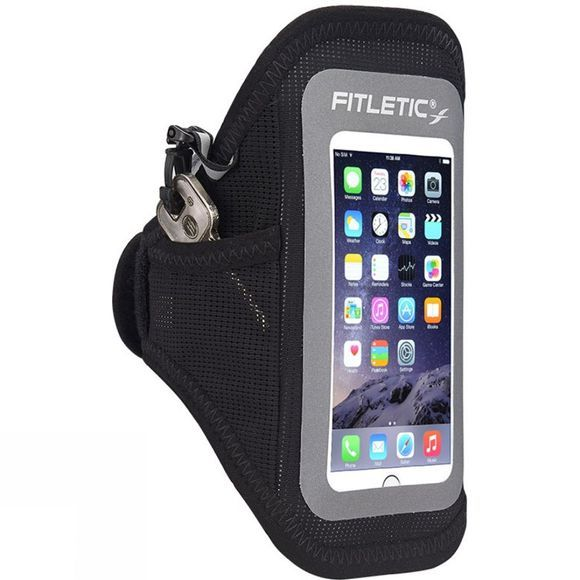 Fitletic Surge Running Arm Band Black