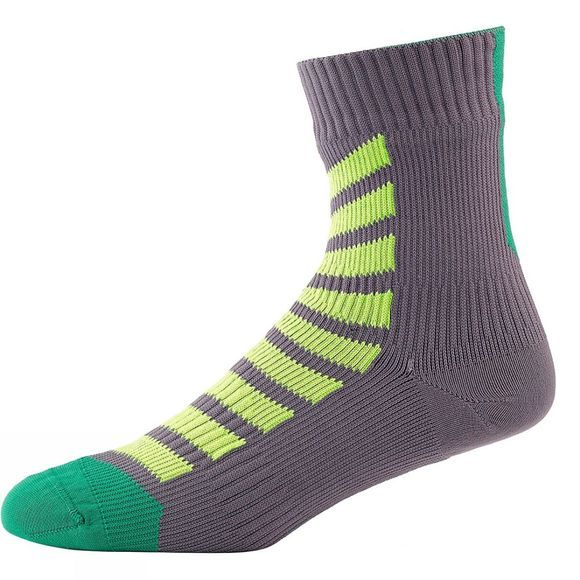 SealSkinz MTB Ankle Socks with Hydrostop Anthracite/Lime/Leaf